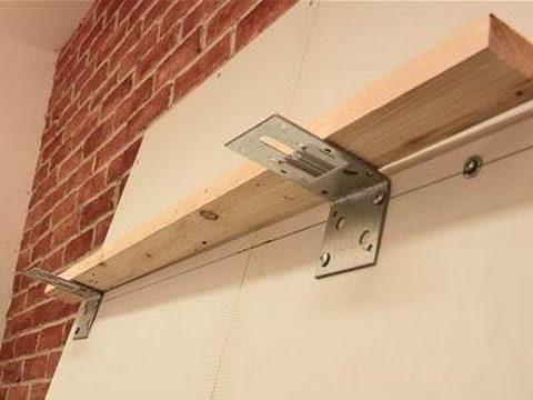 How To Attach Shelves To Drywall YouTube Interesting How Are Floating Shelves Attached
