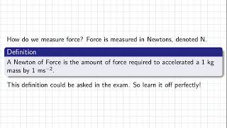 Physics | 1819 Intake 1 | Lecture | Force (Newton's Second Law)