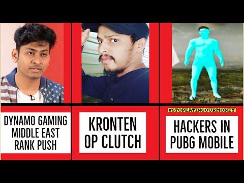 Hackers In Pubg Mobile !! Kronten OP Clutch !! Dynamo ME Rank Push Clarification