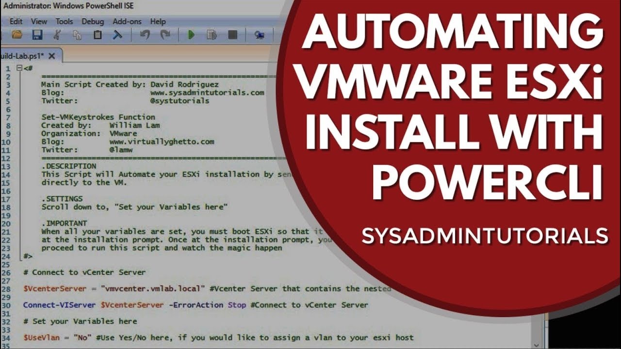 Automating The Installation Of VMware ESXi With PowerCLI