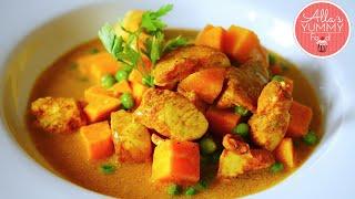 Chicken, Sweet Potato & Coconut Recipe - Карри из курицы со сладким картофелем