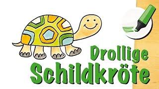 Schildkröte zeichnen lernen: Die Langlebige unter den Tieren - How to draw a Tortoise/Turtle