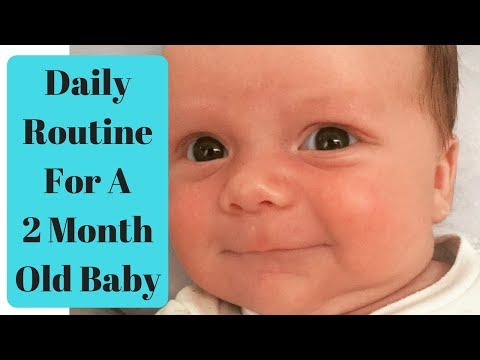 TYPICAL DAY WITH a 2 MONTH OLD BABY : DAILY ROUTINE OF a TWO MONTH OLD