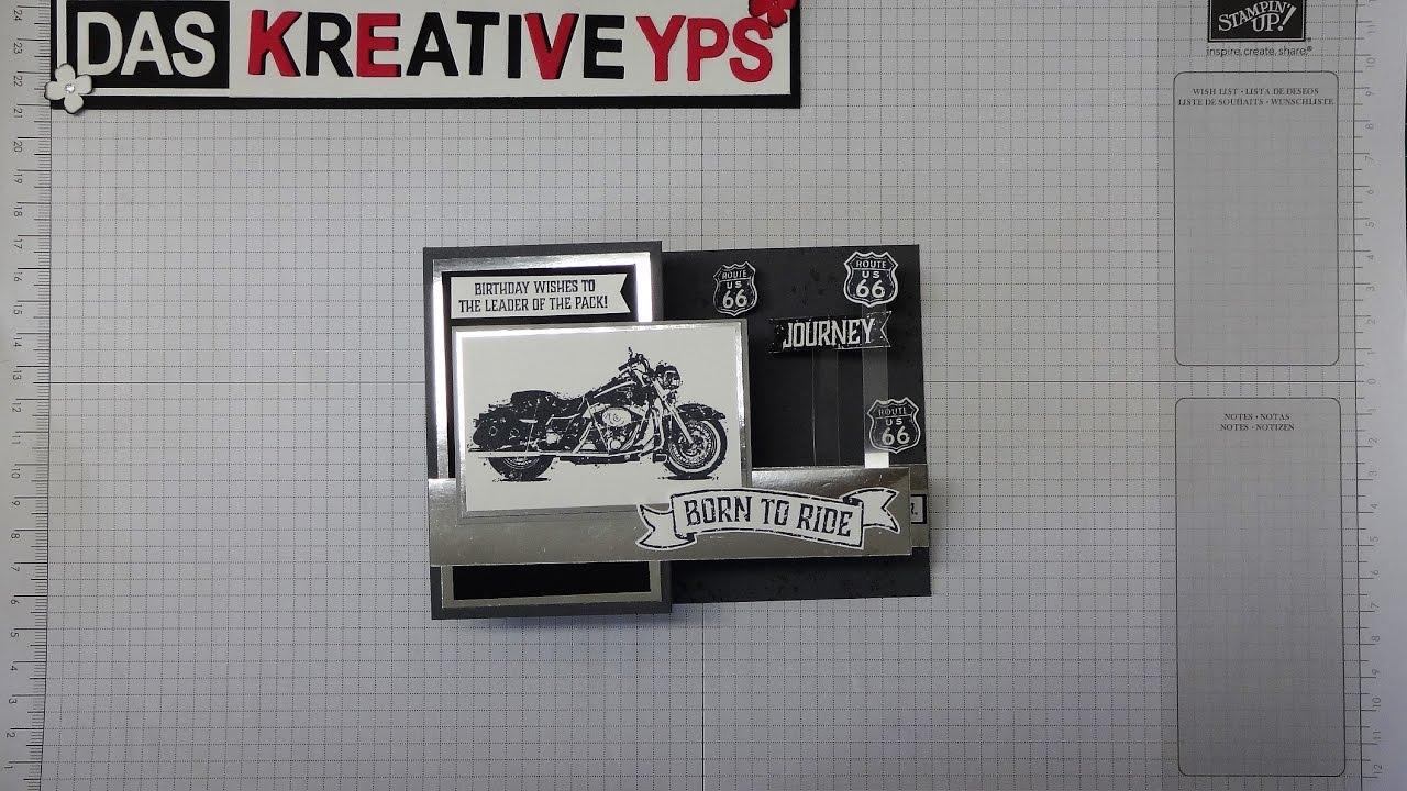 Pop Up Karte Motorrad Alles Gute Geburtstag Basteln