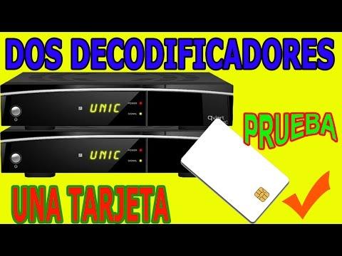 Dos Decodificadores Una Tarjeta Prueba two set top box satellite receiver One Card