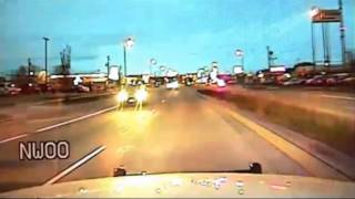 Dash Cam: Driver takes Police officers on wild car chase ending in a crash and shooting