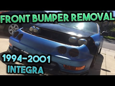 How To Remove The Front Bumper On A Acura Integra YouTube - Acura integra front bumper