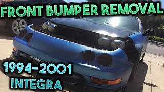 How To Remove The Front Bumper On a 1994-2001 Acura Integra!