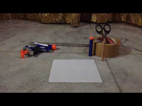 How to make a paper nerf dart