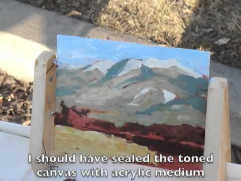 Acrylic Plein Air Painting