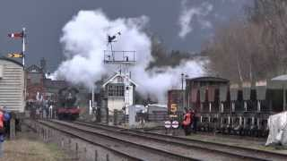 Great Central Railway GCR Winter Steam Gala 2014 - Extreme weather event!
