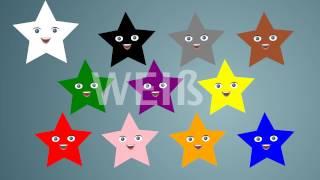 Kinder lernen Farben auf deutsch mit Sterne - Lehrreicher videos für Kinder