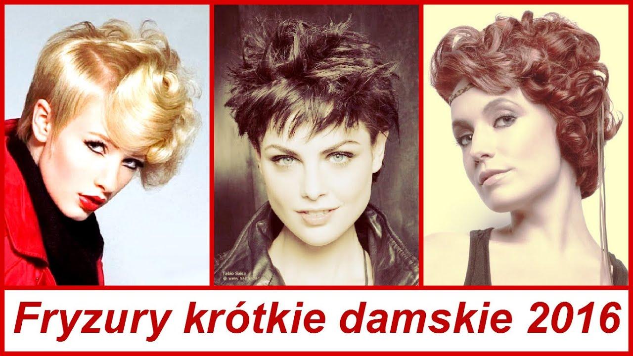 Fryzury Krótkie Damskie 2016 By Kanał Mody