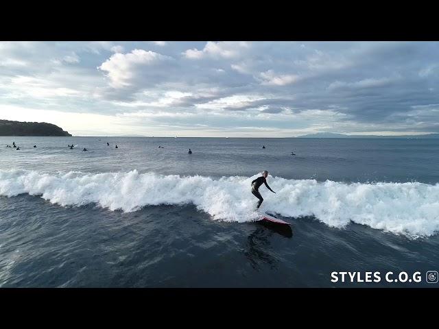 12月4日鵠沼海岸 腰〜腹,胸「サーフィン」