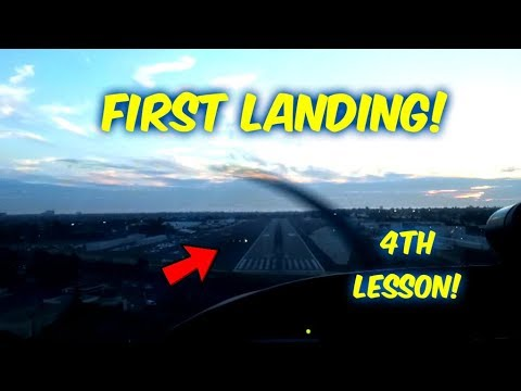 Private Pilot's License--Lesson #4--MY FIRST LANDING!!