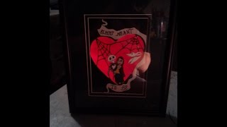 Nightmare Before Christmas Jack And Sally Heart Illuminated Picture