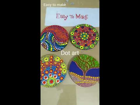 Dot art #easytomake #dot #art #craft #costers #handmade #gift #diy  #dotalism #tutorial #learn thumbnail