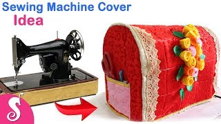 Sewing Machine Cover Idea | Make Unique Cover for Sewing Machine from Waste Cement Bag & Old Clothes