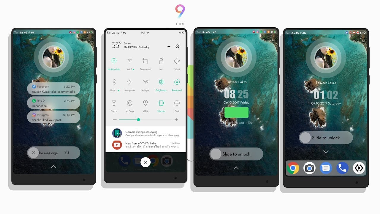 MIUI 8/MIUI 9 Third Party Theme - Android N   Not available in Theme Store    Oct 2017!