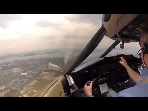 Singapore Seletar landing Challenger 601