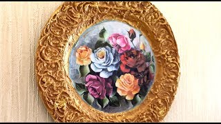 Beautiful DIY Home Decoration from Plastic Plate |Recycling Crafts