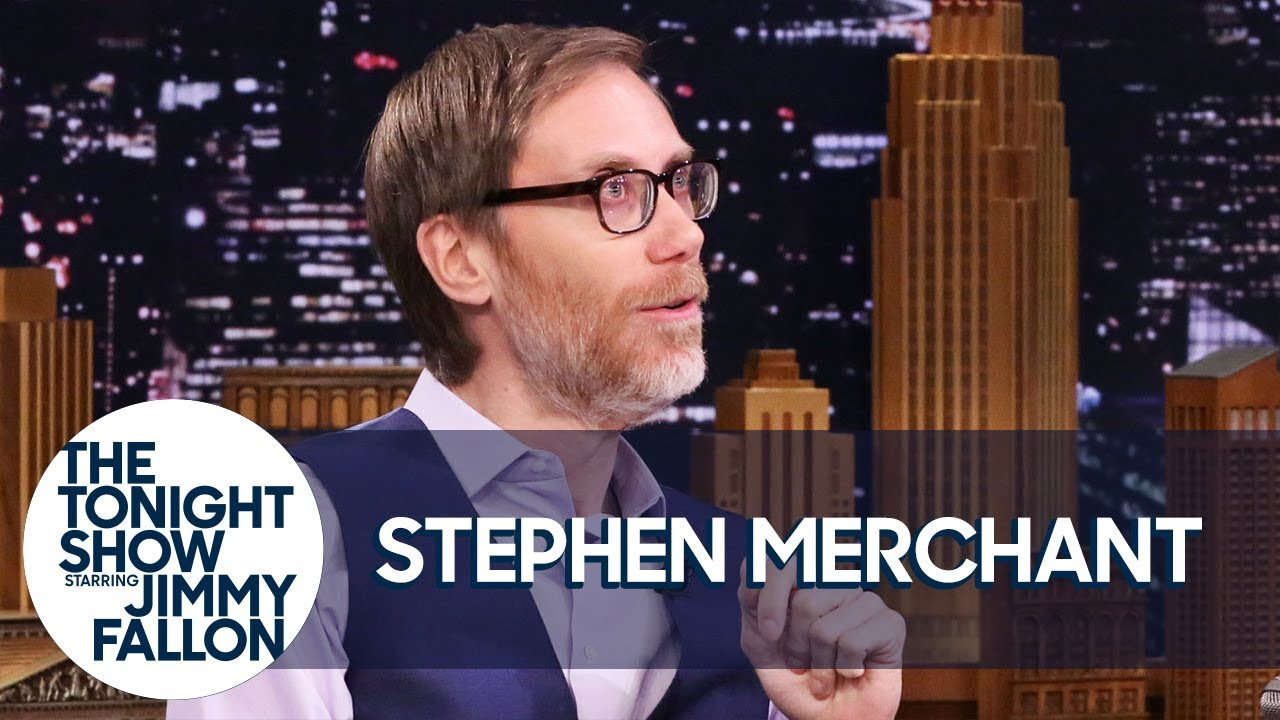 Dwayne Johnson Literally Looks Up to Stephen Merchant