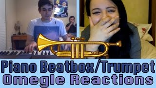 "Video ""THAT MADE MY NIGHT"" - Insane Omegle Piano Beatbox Reactions + Trumpet download MP3, 3GP, MP4, WEBM, AVI, FLV Maret 2018"