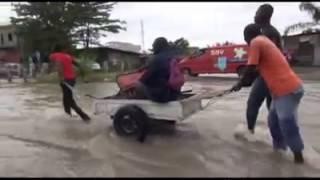 ZIANA TV VIDEO. Pointe-Noire après la pluie du 23 au 24 novembre 2014