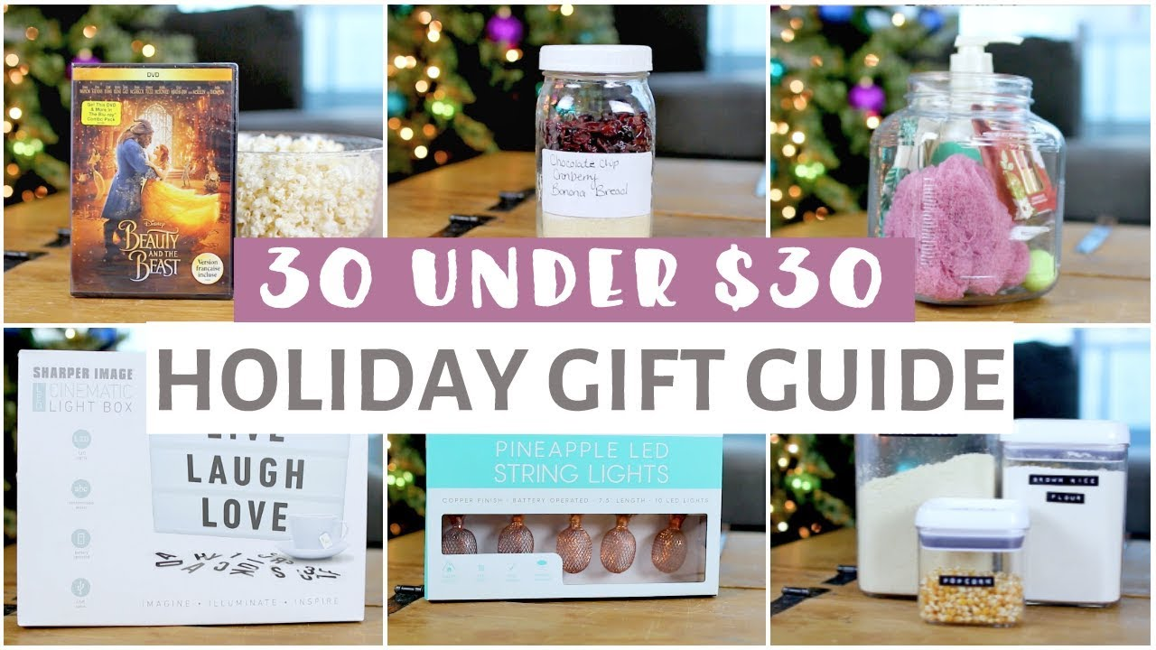 30 Holiday Gift Ideas Under $30 For Everyone!
