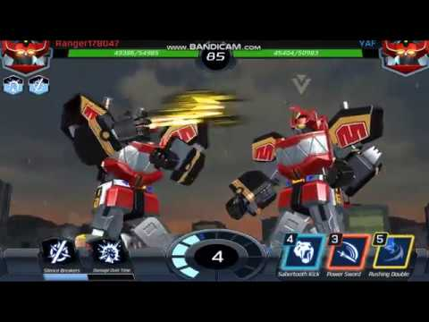 POWER RANGERS DINO MEGAZORD CRUSH ENEMIES ON RAID BATTLE! POWER RANGERS LEGACY WARS