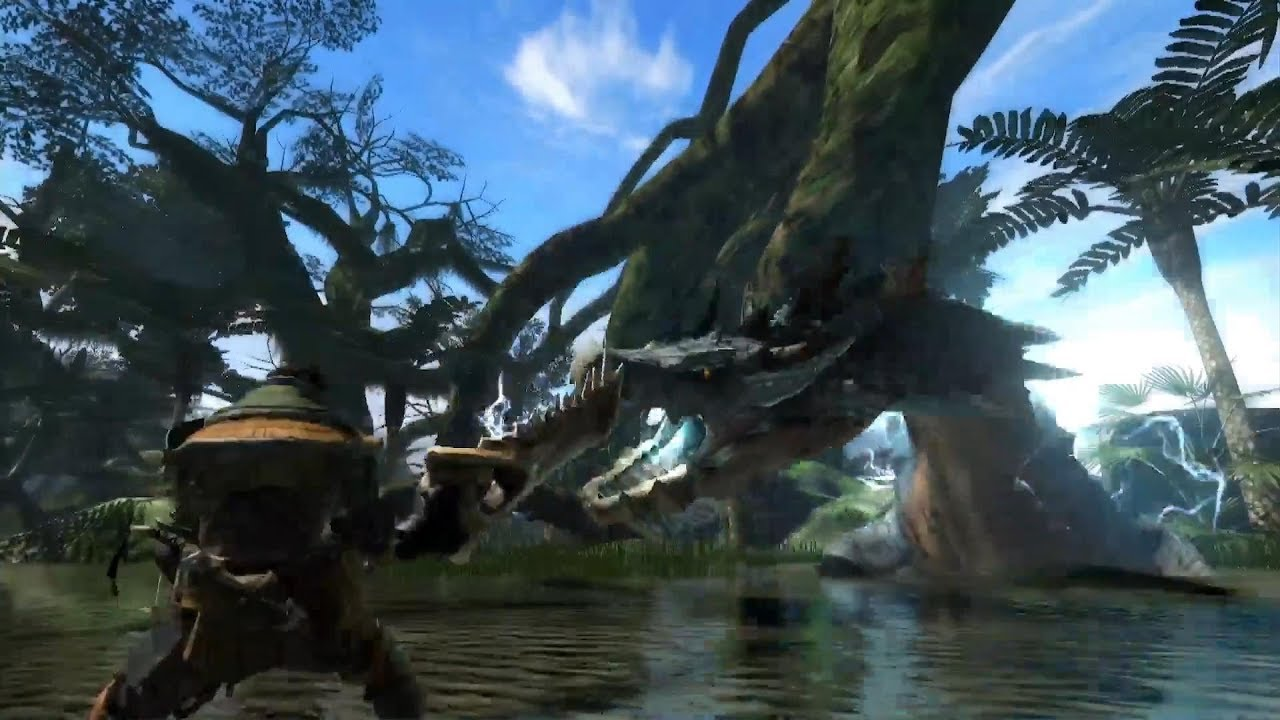 monster hunter world prototype video lagiacrus reveal