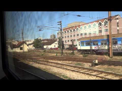 Train arrival in Belgrade, Serbia