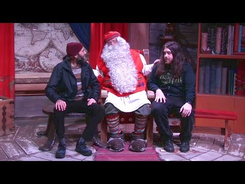 Lapland, Finland | Two Grown Men Talking With Santa Claus