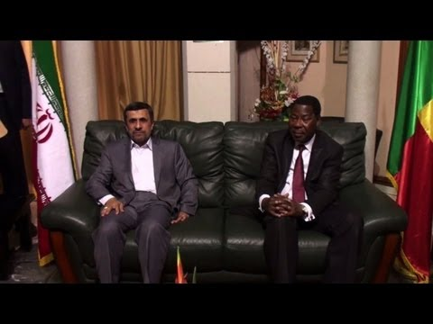 Ahmadinejad in Benin, the first stop of his west African tour