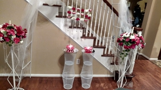 DIY Dollar Tree Wedding Pedestals