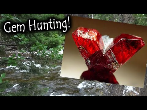 In Search Of A Gemstone!    Gem Hunting For Rhodonite.