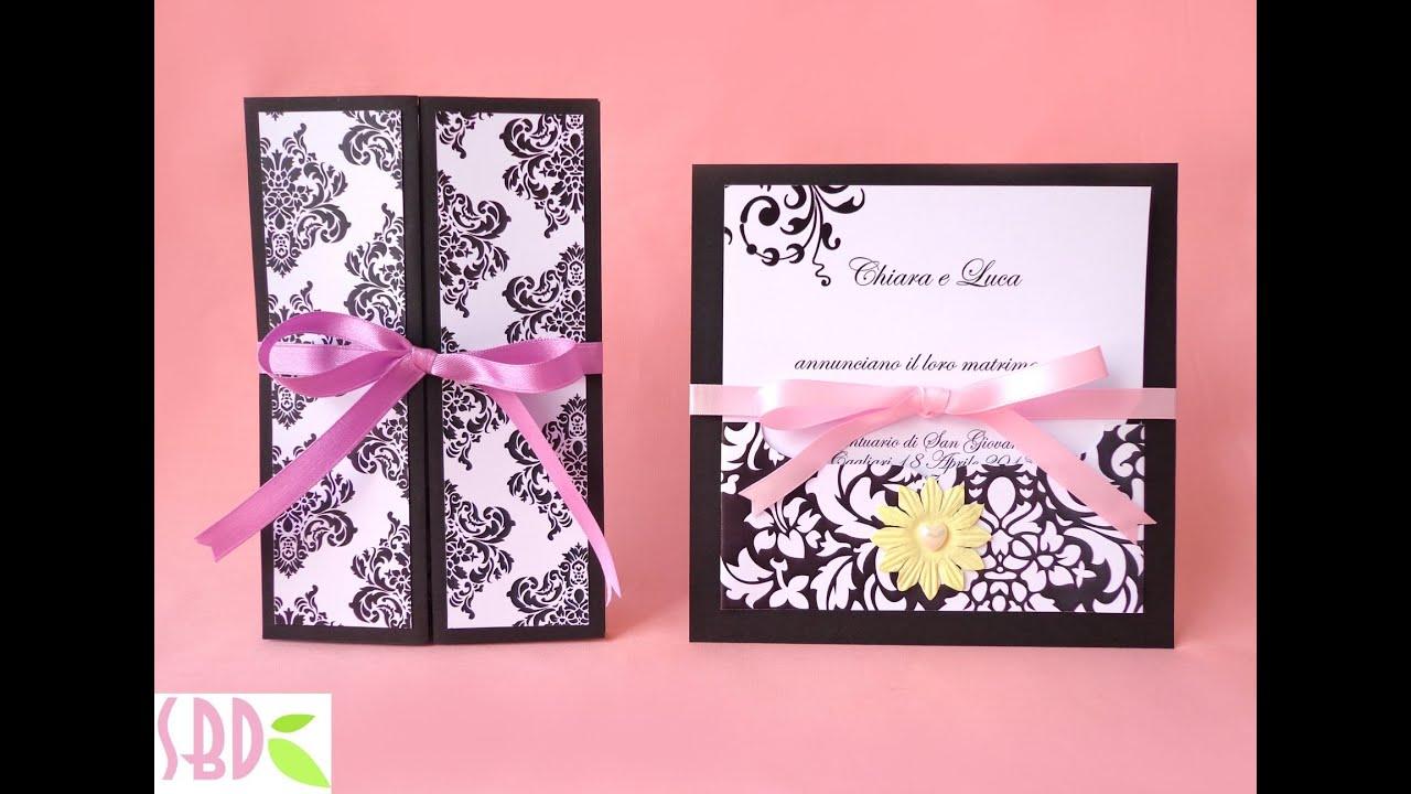 Partecipazioni Matrimonio Scrapbooking.Partecipazioni Di Nozze Eleganti Wedding Invitation Elegance