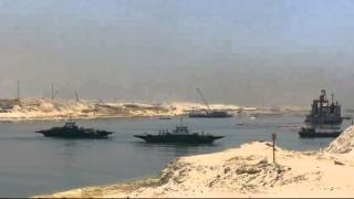 Surprise first day of Ramadan in the new Suez Canal: Run first ferry to transport people and cars