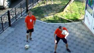 Трюки с футбольным мячом