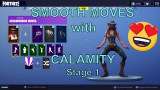 FORTNITE - 1 HOUR SMOOTH MOVES with CALAMITY (HOTTEST SKIN & DANCE EMOTE) #2/2 | Geschmeidige Moves
