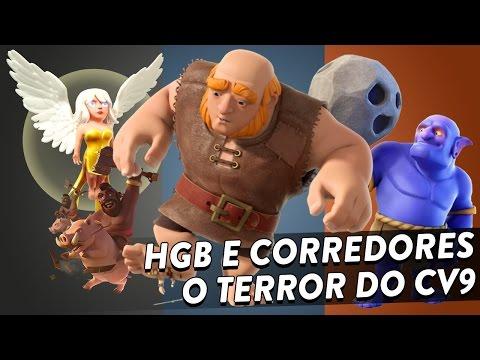 HGB E CORREDORES - ESTRATÉGIA DE ATAQUE TERRORISTA NO CV9 - CLASH OF CLANS - CLÃ APOCALIPSE