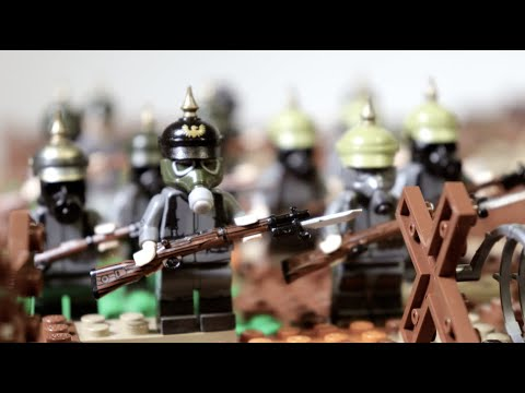 Lego WW1 battle for Osowiec Fortress (Dead men attack) - part 2