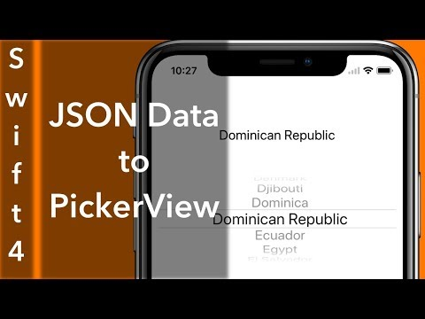 JSON Data Into PickerView (Swift 4 + Xcode 9.0)