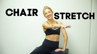 Chair Stretches Class. Seated Total Body Flexibility Routine