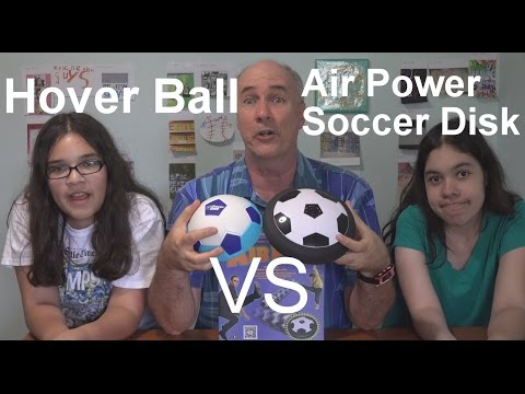 Special Update- Hover Ball vs Air Power Soccer Disk   EpicReviewGuys in 4k CC