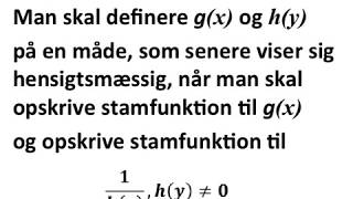 Som start på løsning af differentialligning af typen