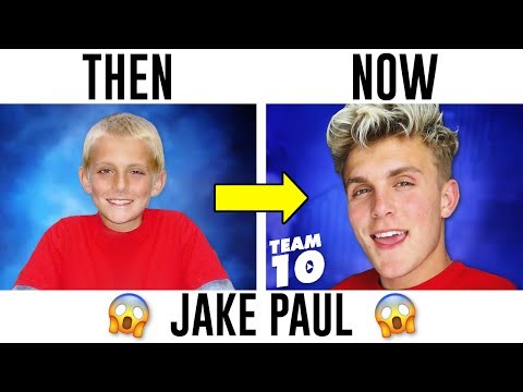 YouTubers Then And Now 2018 (Jake Paul, PewDiePie, DanTDM, Logan Paul)