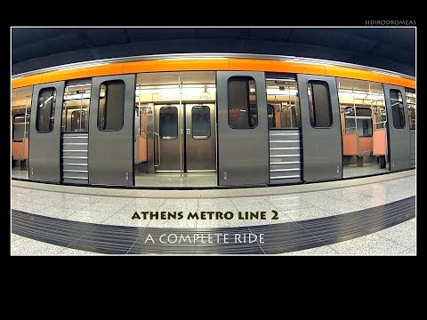 ATHENS METRO RIDE All Stations Elliniko - Anthoupoli [Line 2 / Γραμμή 2]