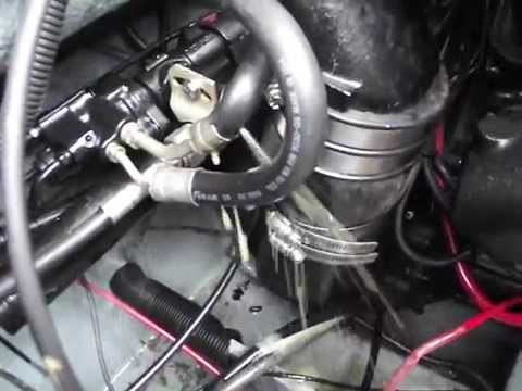 Power Steering Hose Leak on Searay 11-11-14 - YouTube