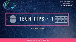Technical Tips   part 1